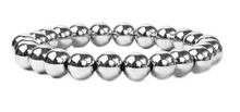 Load image into Gallery viewer, 8 mm Metal Beaded Bracelet