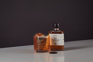 Old Fashioned whiskey cocktail. American Bourbon, Bitters. Small 200ml bottle premixed batched cocktail at home. Craft Cocktails are hand mixed and bottled in Dublin 7 by award winning bartenders. Natural ingredients. Made in Ireland. Nationwide delivery.