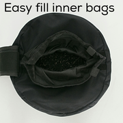 Easy fill worm inner bags - rubber crumb filler