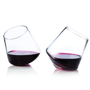 Rolling Stemless Wine Glasses