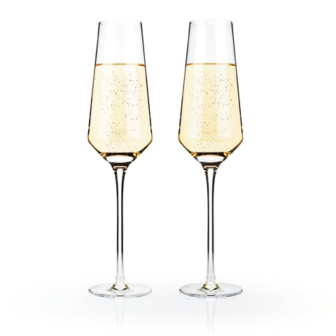 So Chic Crystal Champagne Flutes