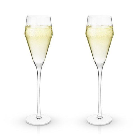 So Chic Crystal Prosecco Flutes