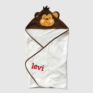 Baby Monkey Animal Hooded Towel