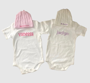 Baby Toque & Onesie | Twin Set