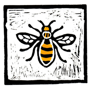 Manchester Bee Lino Print