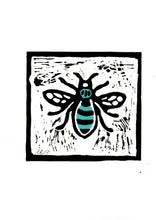 Load image into Gallery viewer, Manchester Bee Lino Print