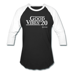 Unisex Good Vibes Baseball T-Shirt - black/white