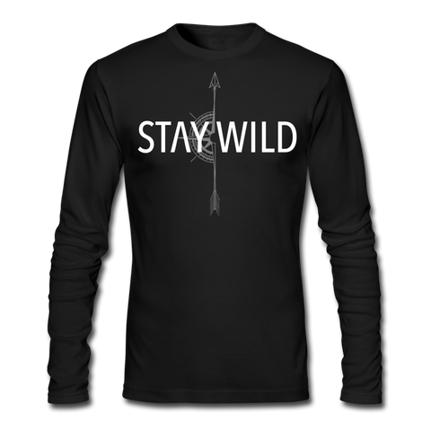 Men's Long Sleeve T-Shirt by Next Level - black