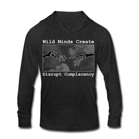 Unisex Create Tri-Blend Hoodie Shirt - heather black