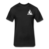 Fitted Cotton/Poly T-Shirt by Next Level - black
