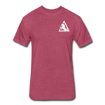 Fitted Cotton/Poly T-Shirt by Next Level - heather burgundy