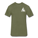 Fitted Cotton/Poly T-Shirt by Next Level - heather military green