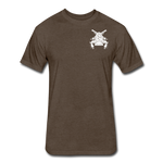 Fitted Cotton/Poly T-Shirt by Next Level - heather espresso