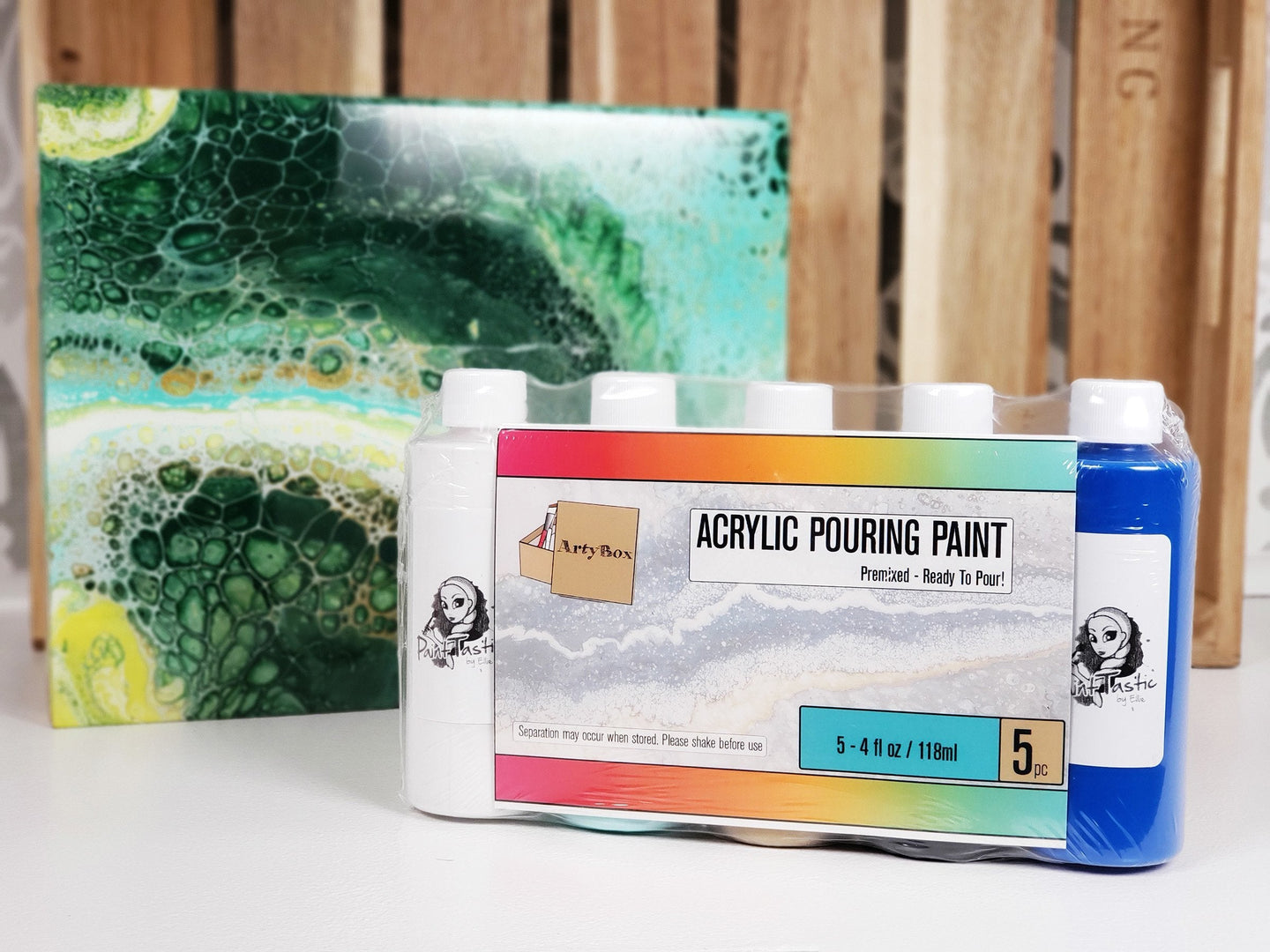 ArtyBox Acrylic Pour Paint - 4pc Sets