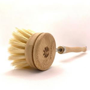 Long Handled Bamboo Dish Brush & Replaceable Head