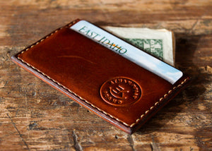 Hand-Stitched Twin Pocket Minimalist Wallet