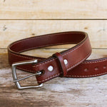 Load image into Gallery viewer, 50 Year Double Full Grain Cowhide Belt (Mahogany)