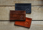 Load image into Gallery viewer, Hand-Stitched Twin Pocket Minimalist Wallet