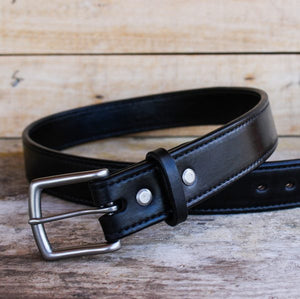 genuine leather belt for men black