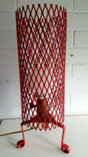 Load image into Gallery viewer, 60's Modernist Retro Red Wire Columnar Tripod Desk Lamp