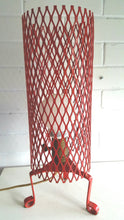 Load image into Gallery viewer, Mid Century Modern Red Wire Tripod Table Lamp