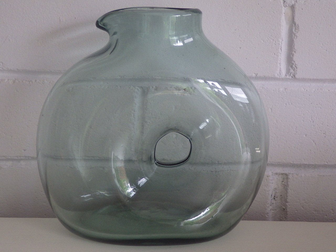 La Mailloche Beauport Smoked Light Green Flask Vase