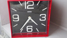 "Load image into Gallery viewer, Mod ""The Cube"" Red & Black Plastic Clock by Newgate"