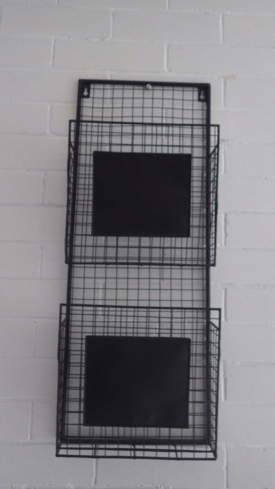 Modernist 2 Tier Wire Wall Mounted Basket File