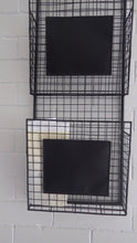 Load image into Gallery viewer, Modernist 2 Tier Wire Wall Mounted Basket File
