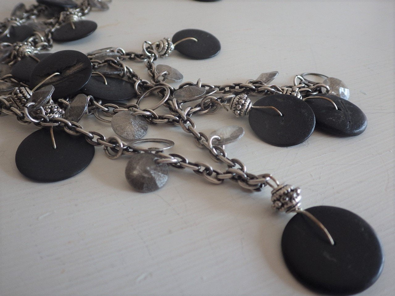Mixed Metal Long Necklace by KEIN