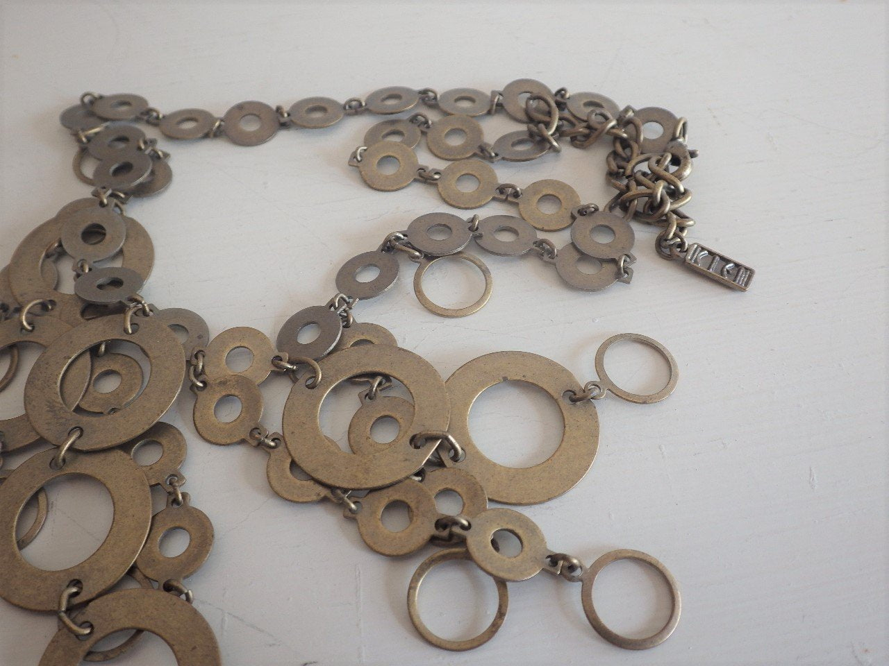 Modernist Mixed Metal Circles Necklace KEIN