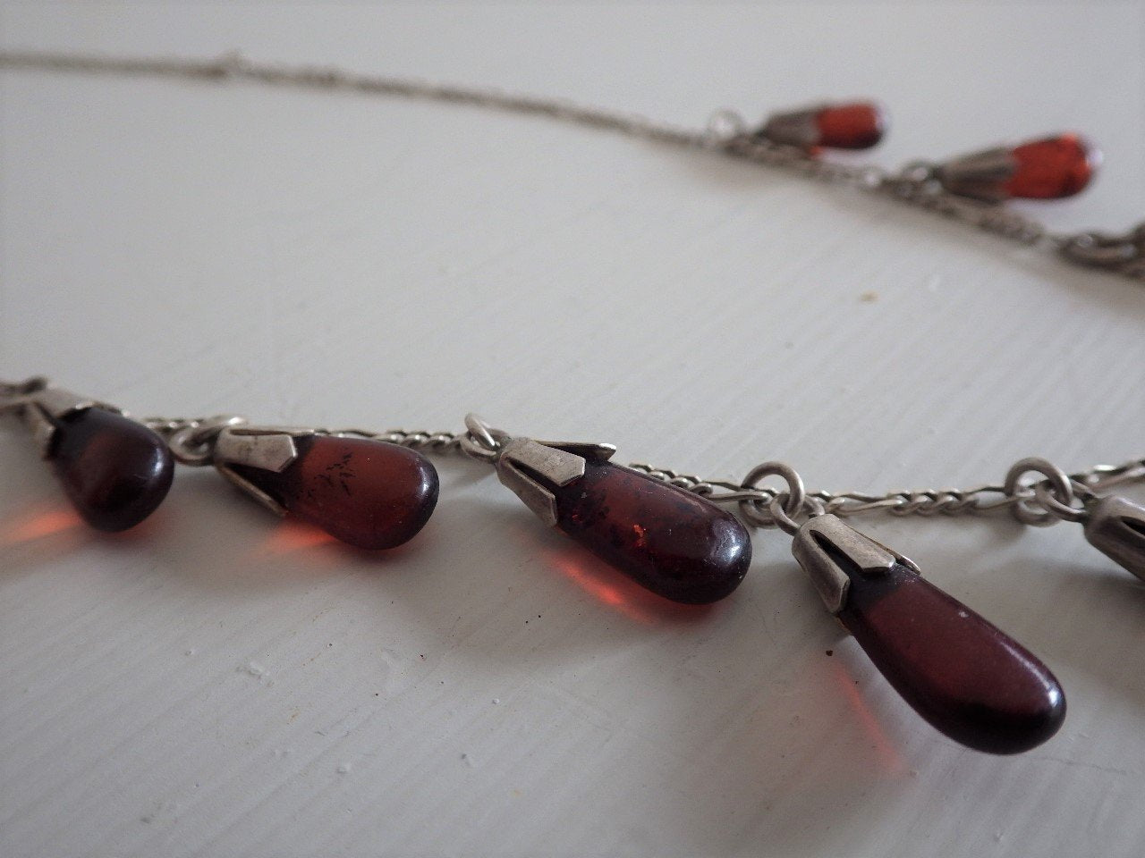Baltic Amber 925 Tear Drop Necklace Peter Stone