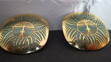 Load image into Gallery viewer, VINTAGE LAUREL BURCH ESKIMO LION PIERCED EARRINGS