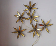 Load image into Gallery viewer, C Jere Style 1960's Atomic Metal Floral Wall Sculpture