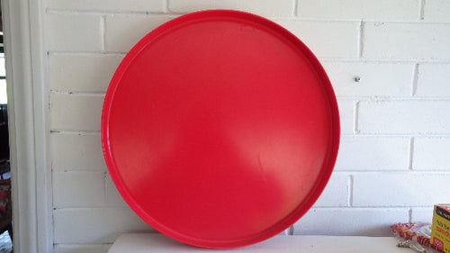 Vintage Melamine Red Tray Made in Sweden