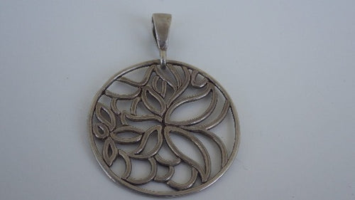Modernist Sterling Silver Tree of Life Pendant
