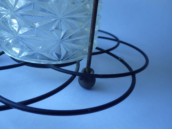 Black Wire Cage Ceiling Lamp Fixture Atomic Chandelier