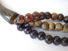 Load image into Gallery viewer, AMAZING STATEMENT MONIES GERDA LYNGGAARD MULTI COLOR BEAD WOOD HORN NECKLACE