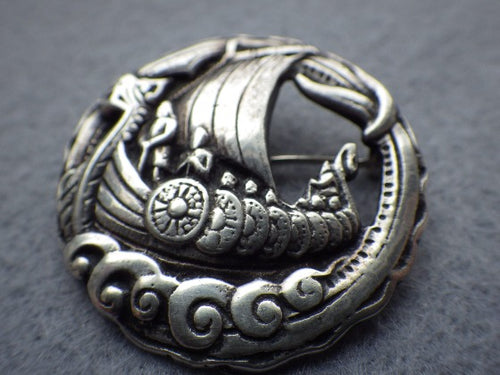 Robert Allison Celtic Viking Ship Brooch 1951 Sweden