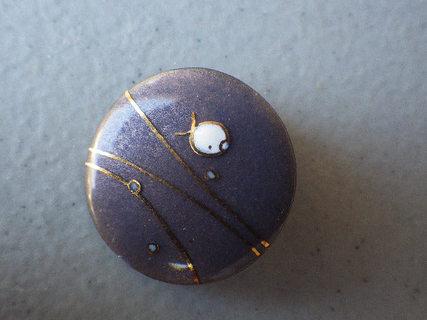 ENAMEL BROOCH PIN CANADIAN DESIGNER CLAUD PERRIER - QUEBEC
