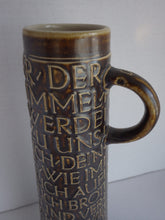 Load image into Gallery viewer, Vintage Germany Pottery Tall Handled Vase Vessel