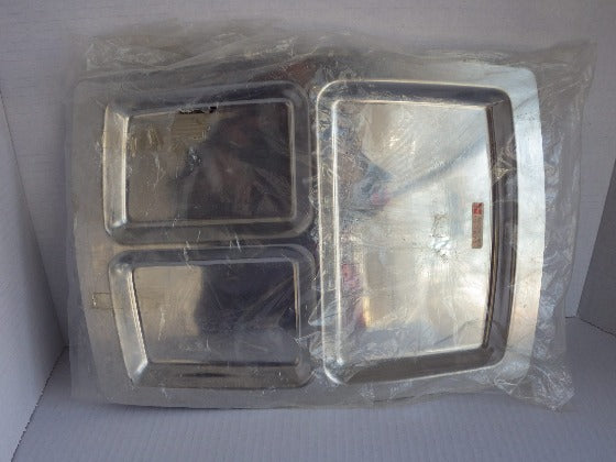 Vintage New Stainless Steel Divided Tray Denmark
