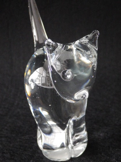 Vintage Clear Crystal Stylized Cat by Abbott