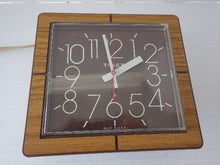Load image into Gallery viewer, MCM Electric Wood Grain Timex Wall Clock
