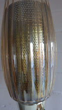 Load image into Gallery viewer, Mid Century Teak Atomic Perforated Shade Gerald Thurston Style Table Lamp