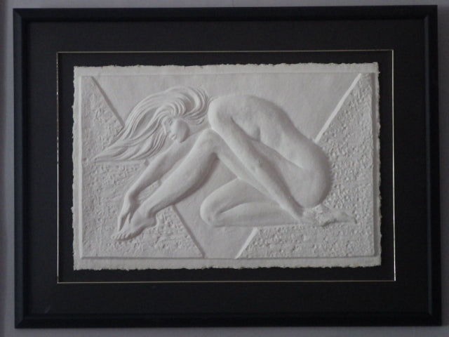 Alexsander Danel Paper Relief Woman Sculpture