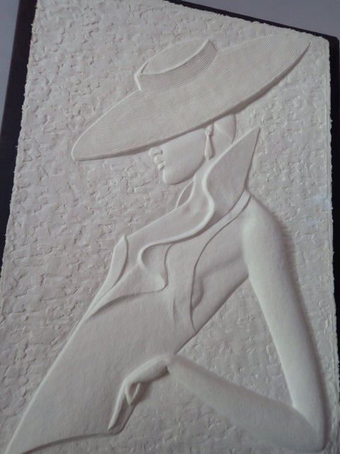Sophisticated Lady III by David Fisher Pressed Paper Relief Art
