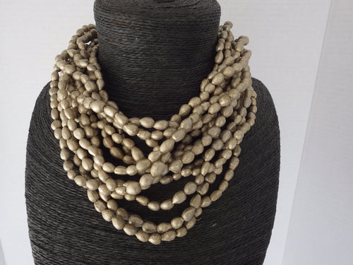 Runway Sylca Designer Multi Strand Beaded Necklace