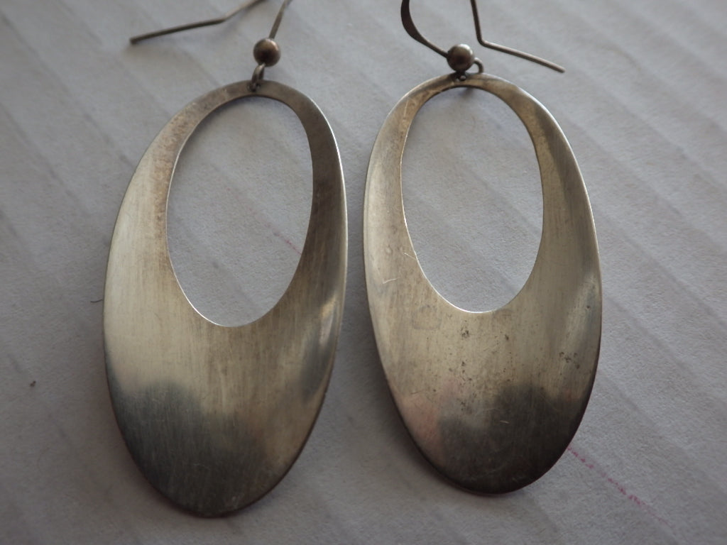Rebajes Modernist Sterling Silver Dangle Earrings