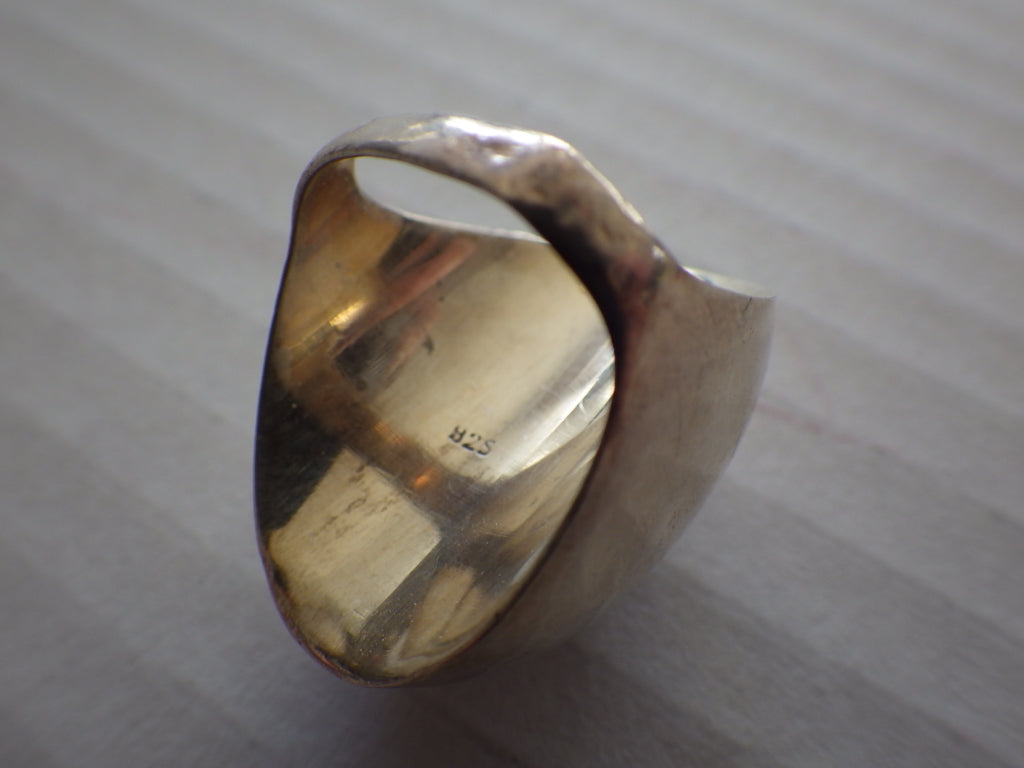 Vintage Modernist Sterling Silver Dome Ring